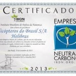 Helibras recebe certificação de Empresa Neutra de Carbono