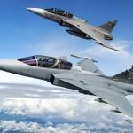 Saab e Embraer serão parceiras nas vendas mundiais do Gripen