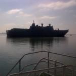 ALHD1 começa primeiras provas no mar