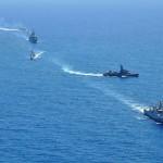 Navios componentes da Força-Tarefa Marítima da UNIFIL realizam exercícios de manobras táticas