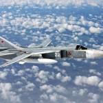 Aviões russos Su-24 observam navios da OTAN no mar negro
