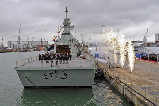 NEW WARSHIP HANDED OVER TO ROYAL NAVY OF OMAN