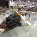 """Aeronave """"Bell 429 WLG"""" realiza demonstração na Base Aérea Naval de São Pedro da Aldeia"""
