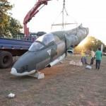 Um AT-26 Xavante,primeiro jato de fabricação brasileira vai virar atração em São José do Rio Preto
