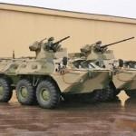 A empresa Military Industrial Company apresentou o novo 8×8 blindado de transporte de pessoal BTR-82A1.