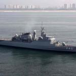 Fragata Niterói chega a Salvador para reforçar segurança da Marinha durante a Copa do Mundo na Bahia
