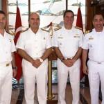 Comandante da FTM-UNIFIL visita a Base Naval Turca no Mediterrâneo
