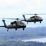 Helicópteros se deslocam para proteger cidades-sede