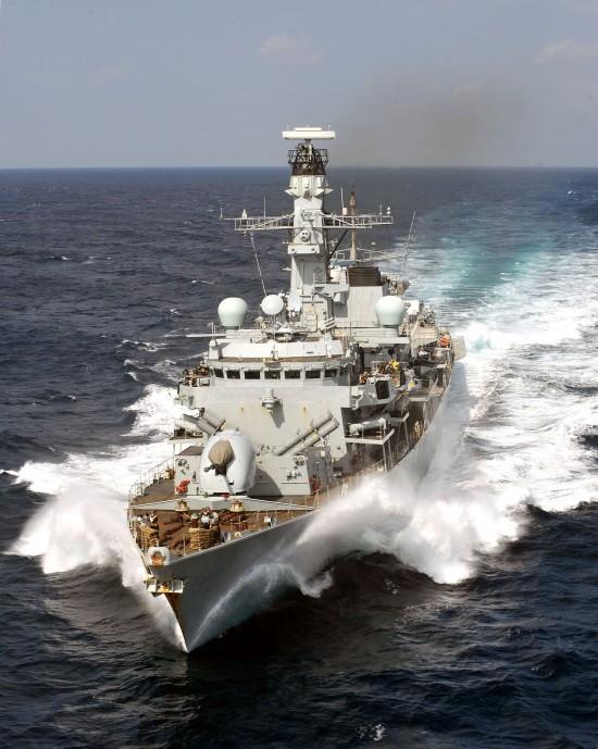 HMS Portland in Bab-el-Mandeb Straits