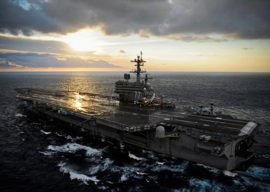 USS George H.W. Bush action