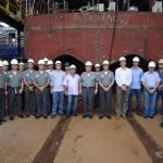 """Visita técnica do Diretor-Geral do Material da Marinha às obras do NHoFlu """"Rio Branco"""""""