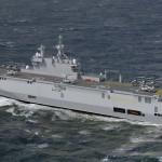 Marinheiros Russos chegam à França para começarem período de aprendizagem sobre seus futuros porta-helicópteros