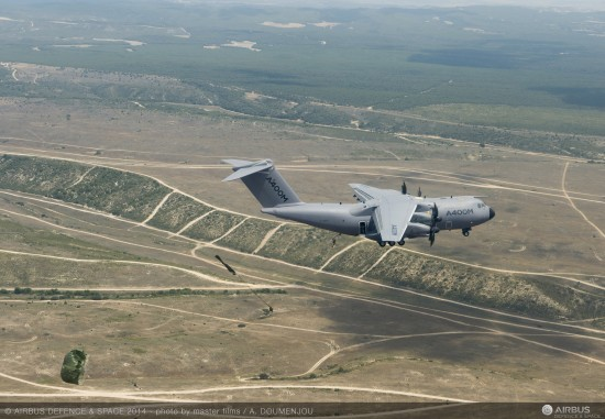 A400M paratrooping trials_