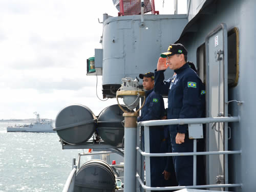 "CDA, a bordo da Corveta ""Caboclo"""
