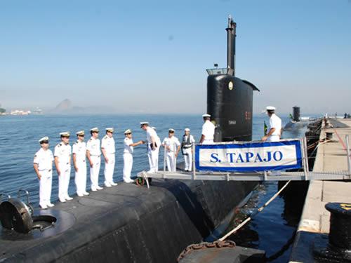 Comitiva do Peru na Força de Submarinos