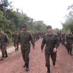 Efetivo do CLA participa de marcha de oito quilômetros