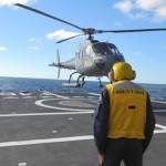 """5º Esquadrão de Emprego Geral realiza Qualificação e Requalificação a Bordo da Fragata """"Greenhalgh"""""""