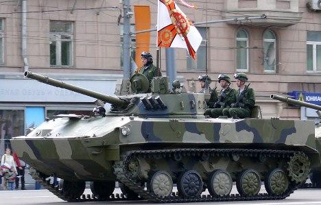 BMD-4M são aptos a percorrer uma distância de até 500 quilômetros sem abastecer