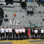 """Visita da Comitiva do Ministério da Defesa da Suécia ao Navio-Aeródromo """"São Paulo"""""""