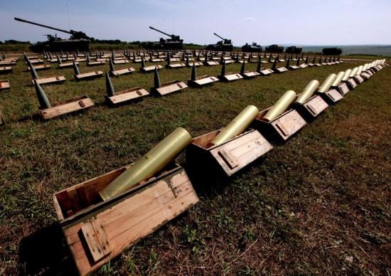 Competições de baterias de artilharia.6