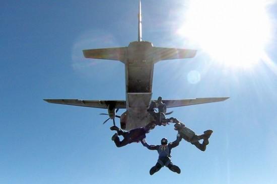 Equipe Falcões de salto livre FAB2