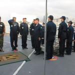 Comandante-em-Chefe da Esquadra visita seu novo Navio Capitânia, no Oriente Médio