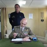 Comandante da UNIFIL visita o Navio Capitânia da Força-Tarefa Marítima (FTM-UNIFIL)