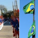 Exército comanda troca da Bandeira Nacional