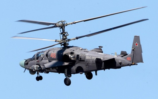 Russian Ka-52 Alligator Attack Helicopter Hokum Kamov  The navalised derivative of the Ka-52 Alligator– Ka-52K, has been selected as the new ship-borne attack type for the Russian Naval Aviation (RNA) (3)