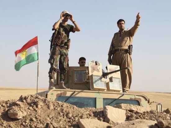 Tropas da milícia curda peshmerga participam de mobilização de segurança no Iraque