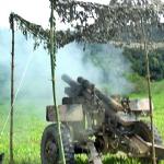 Exercício de adestramento com Tiro de Armas Coletivas do 7º Grupo de Artilharia de Campanha