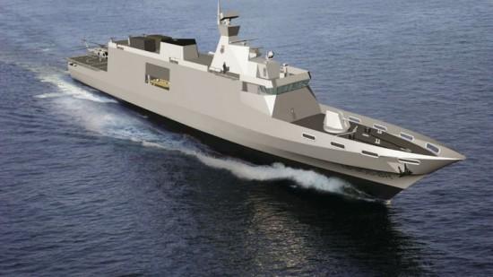 EMGEPRON está definido para desvendar um design indígena navio de patrulha offshore BR-OPV na exposição Euronaval 2014, em Paris, em outubro. Fonte EMGEPRON