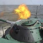 Navios da flotilha do Mar Cáspio começaram manobras de adestramento