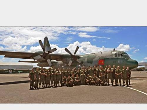 Militares do Comando do 2º Distrito Naval integrantes da missão