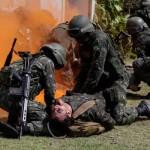 Forças Armadas realizam simulação conjunta de resgate médico a feridos em combate