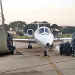 1° Btl DQBRN descontamina aeronave que transportou paciente com suspeita de Ebola