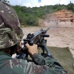 28º Batalhão de Caçadores realizando Tiro de Metralhadora .50