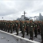"Alunos do CIASC visitam o Navio de Desembarque de Carros de Combate ""Garcia D'Avila"""