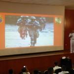 Palestra sobre o Corpo de Fuzileiros Navais é realizada na Escuela de Infantes de Marina da Armada do Ecuador