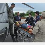 Comando do 6° Distrito Naval realiza a 14ª evacuação aeromédica em 2014