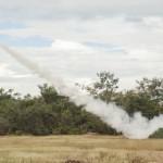 Antiaérea da FAB realiza exercício com aeronaves de caça, reconhecimento e helicóptero