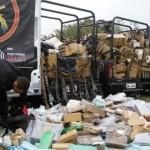 Bope apreende 3 toneladas de drogas e armas enterradas ao lado do Aeroporto Galeão