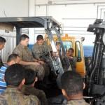 Militares do CLA realizam curso de operação de equipamentos mecanizados