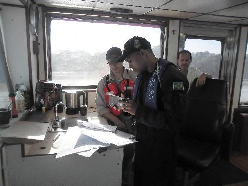 """Equipe de Inspeção Naval do Navio-Transporte Fluvial """"Almirante Leverger"""""""