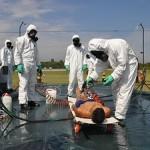 Batalhão de Engenharia realiza exercício conjunto de defesa nuclear, biológica, química e radiológica