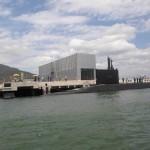"""Submarino """"Timbira"""" é o primeiro a atracar na nova Base Naval em Itaguaí"""