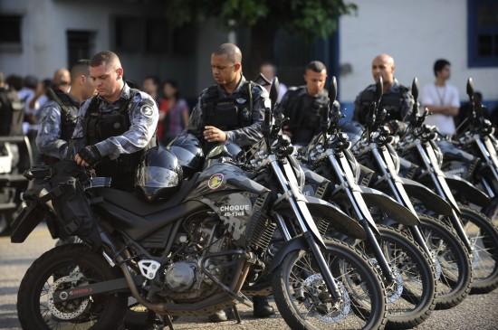Policiais do Batalhão de Choque da PM participaram do curso de controle de distúrbios civis