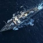 Contratorpedeiro norte-americano USS Donald Cook prestes a entrar no mar Negro