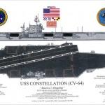 """Casco do porta-aviões USS """"Constellation"""", que esta sendo rebocado realizará escala técnica em Salvador"""