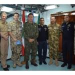 """Comandantes dos navios da Força-Tarefa Marítima da UNIFIL se reúnem a bordo da Fragata """"Constituição"""""""